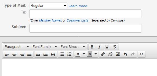 Niteflirt Mail Screen - Niteflirt's Secret HTML Editor
